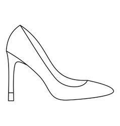 High heel women shoe icon outline style vector image vector image