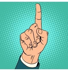 Index finger up gesture vector