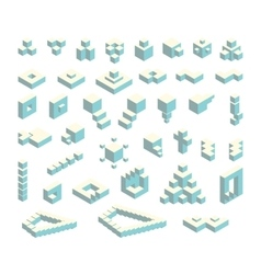 Isometric cubes set vector
