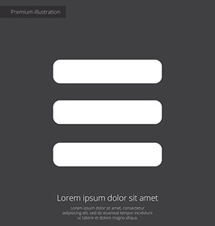list premium icon white on dark background vector image vector image