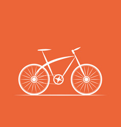 Logo bicycle shop vector