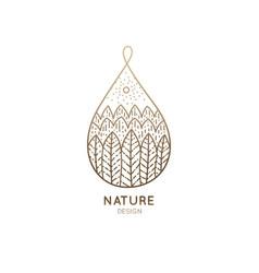 logo nature drop vector image vector image