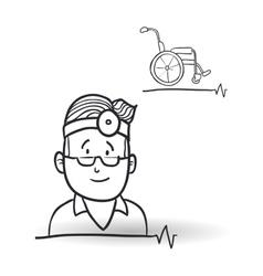 Medical care design health care icon sketch vector image vector image