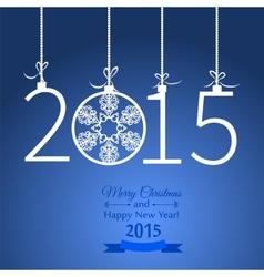 New Year greeting with snowflakes vector image vector image