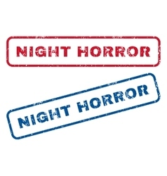 Night horror rubber stamps vector