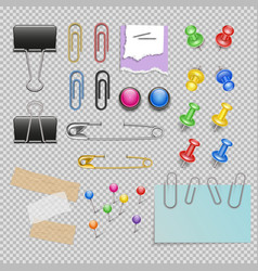 Office accessories set vector