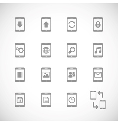 Online mobile applications iconset contour flat vector image