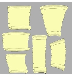 Set of Old Papers vector image