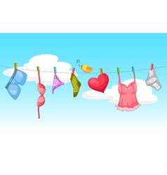 sexy laundry vector image vector image