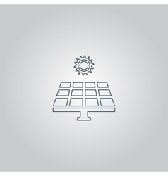 Solar energy panel vector image