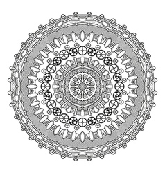 Steampunk round ornament vector image