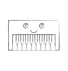 Synth console kawaii character vector