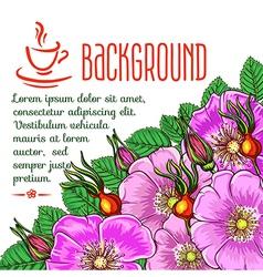 tea background vector image