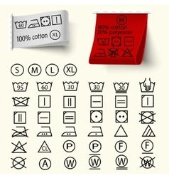 Textile care signs vector image