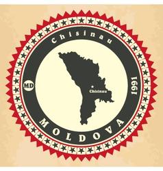Vintage label-sticker cards of Moldova vector image