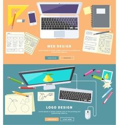 Web and logo design vector