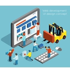Web development and UI design concept in vector image