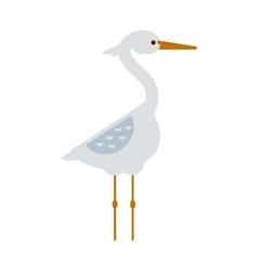 Stork standing sarus crane cartoon vector