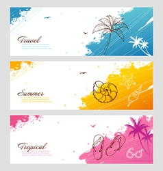splash travel vector image
