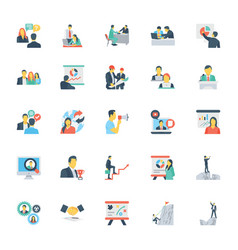 Human resources and management icons 8 vector