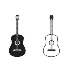 classic guitar outline vector image