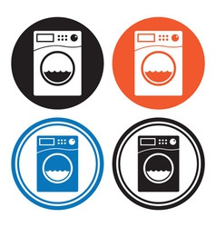 Washing machine icons vector image