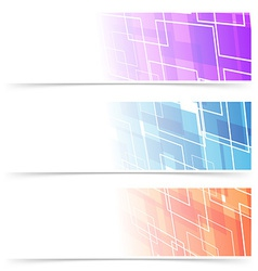 Fashion abstract geometry header collection vector