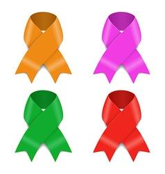 Set of Awareness ribbons vector image