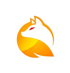 Fox icon abstract vector