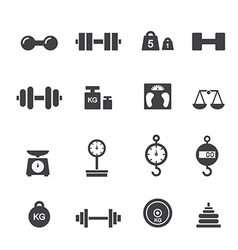 weight icon vector image