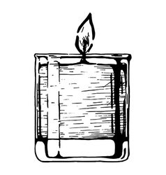 Candle in glass vector
