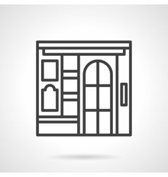 Cinema facade simple line icon vector