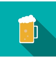 Glass mug of beer icon flat style vector