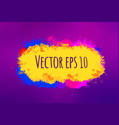 abstract colorful brush strokes hand drawn vector image vector image