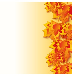 Autumn background with 3d maple leaf fall vector image