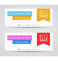 Banner design for sale vector image