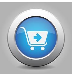 Blue button - shopping cart next vector