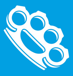 Brass knuckles icon white vector