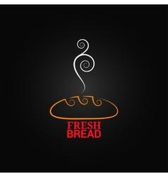 bread ornate design background vector image