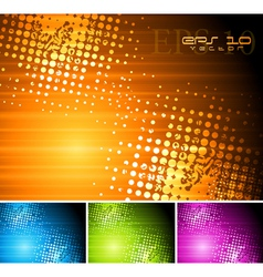 Bright grunge design vector image
