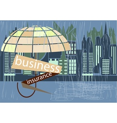 Business insurance cover vector