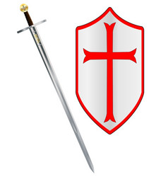 crusaders sword and shield vector image