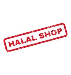 Halal shop text rubber stamp vector