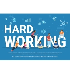 Hard working concept vector