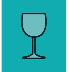 icon glass wine design vector image