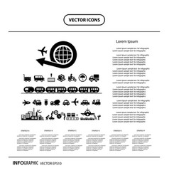 Industrial and logistics export info graphic icon vector