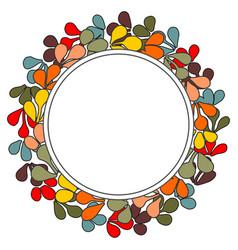 Laurel wreath frame on white background vector