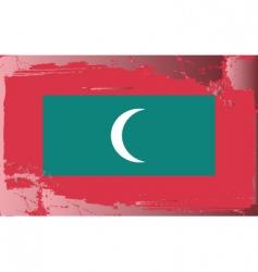 Maldives national flag vector image