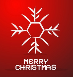 Merry Christmas Paper Title with Abstract vector image