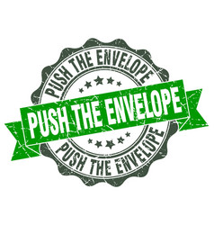 Push the envelope stamp sign seal vector